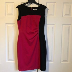 Calvin Klein Size 10 Black and Pink Sleeveless